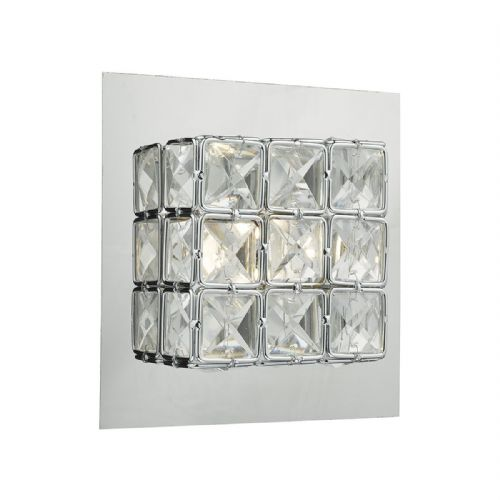 Imogen 1 Light Wall Bracket Polished Chrome Clear LED (Class 2 Double Insulated) BXIMO0750-17